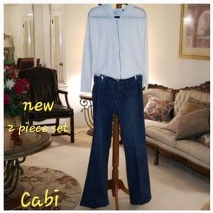 Cabi Jeans and Hoodie Set